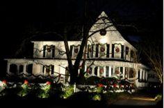 One of the houses on main street, Fountain Inn, SC.  I love the way everyone in Fountain Inn hangs a wreath in each window.  Beautiful.