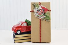 """Christmas Packages created by Becki Adams with the """"Christmas Delivery"""" collection and designer dies by Christmas Packages, Christmas Gift Wrapping, Christmas Time, Christmas Gifts, Echo Park Paper, Christmas Delivery, Bella, Packaging, Bows"""