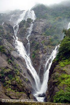 "Dudhsagar Falls: Translation ""Sea of Milk"". Mandovi River. Goa, India."