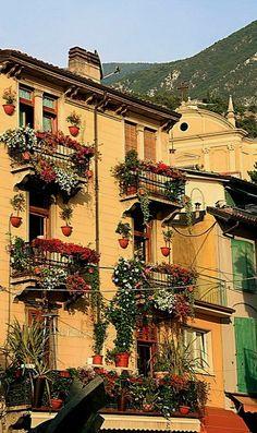 Malcesine, Lake Garda, Veneto, Italy. Had lunch in Malcesine