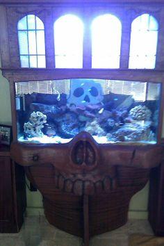 pirate fish tank Aquarium Stand, Aquarium Ideas, Fish Tank Terrarium, Fish Tank Stand, Goldfish Tank, Tropical Fish Aquarium, Toys For Us, Animal Room, Types Of Fish