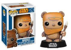 From the movie Star Wars: Episode VI - Return of the Jedi, Wicket W. Warrick has been given the vinyl figure bobble head treatment with this Star Wars Ewock Wicket Pop! Vinyl Bobble Head! Wicket stand