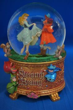 Disney Sleeping Beauty Aurora Dancing Musical Snowglobe Figurine #DisneyStore
