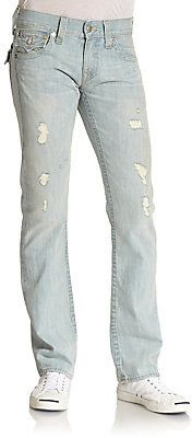 True Religion Ricky Distressed Flap Pocket Slim-Fit Jeans on shopstyle.com