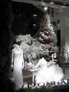 Christmas store windows along Fifth Avenue - New York City