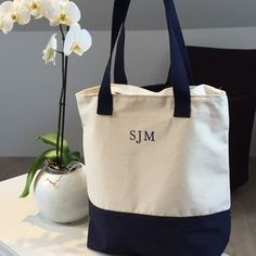 Personalised Brushed Cotton Beach Bag - bags