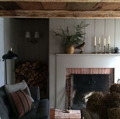 Wish we had a moment to build a fire and enjoy our latest creation, but Christmas calls, so its a rainy ride to Philadelphia and a five hour countdown to being in bed. House Design, Room, Home, Living Room Diy, Room Inspiration, House Interior, Cottage Interiors, Living Room Inspiration, Living Decor