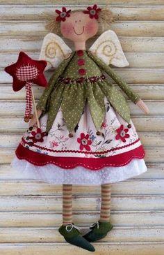 Sweet Little Angel Doll Pattern Christmas Sewing, Christmas Crafts, Christmas Decorations, Christmas Ornaments, Christmas Patchwork, Christmas Angels, All Things Christmas, Christmas Music, Sewing Crafts