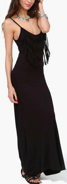 Waterfall Maxi Dress   ~LadyLuxury~
