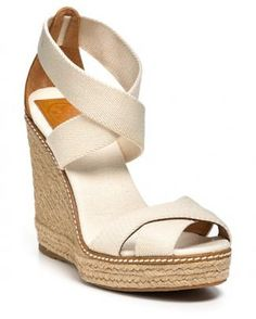 Tory Burch espadrilles look great with everything. #moremagazine.