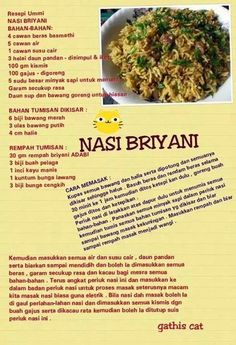 Biryani rice Savoury Dishes, Food Dishes, Indian Food Recipes, Asian Recipes, Low Calorie Dinners, Western Food, Malaysian Food, Indonesian Food, Biryani