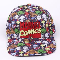 38a5a4c8d05 Marvel Comics Baseball Cap Women Mens Gorras Planas Snapbacks Trucker Hat  Outdoor Hip hop Snapback Caps-in Baseball Caps from Men s Clothing    Accessories ...