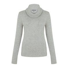 Grey Marl Cowl Neck