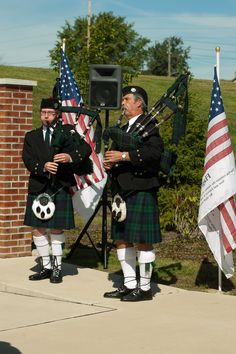 Bagpipers open up ceremony