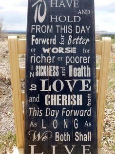 Country Wedding Decor Sign Shabby Chic Wedding Vintage Wedding Pallet Sign Wedding Vows via Etsy