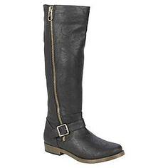 Route 66 Women's Halden Knee-High Black PU Fashion Boot