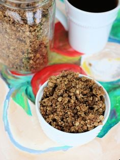espresso granola - used this recipe as a basis for my own granola