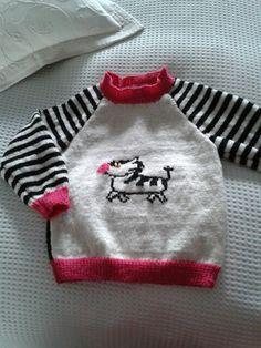 Trøje med en zebra