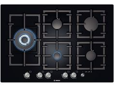Exxcel 5 burner gas hob with wok style burner,premium black with frameless design