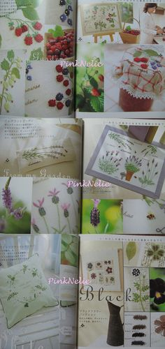 EMBROIDERY GARDEN NOTEBOOK  Japanese Craft Book by PinkNelie, $33.00