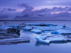 Icebergs in Jokulsarlon Glacial Lagoon, at Dusk Robert Harding, Graduation Makeup, Outdoor Lounge, Face Cleanser, All About Eyes, Travel Photographer, Outdoor Entertaining, Surf Shop, Photographic Prints