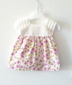 Abito neonata 0  2 mesi abito bianco lilla e verde fatto di VereV