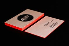 like the idea of color framing the business card