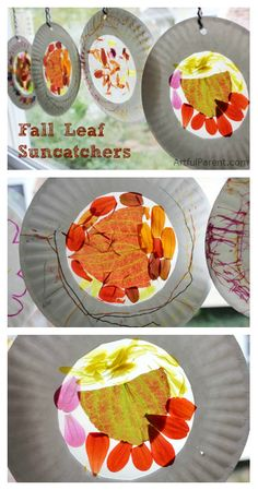 These autumn leaf suncatchers are such a perfect way to bring some fall color inside!