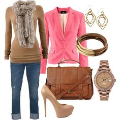 Tan & Pink - created by aracely26 on Polyvore