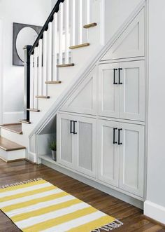 Under stair cabinet designs magnificent cabinet under stairs design Staircase Wall Decor, New Staircase, Staircase Design, Staircase Remodel, Stair Design, Spiral Staircases, Staircase Walls, House Stairs, Cabinet Under Stairs