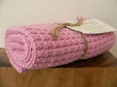 Handtuch Gästetuch Küchentuch gestrickt rosa von Solwang
