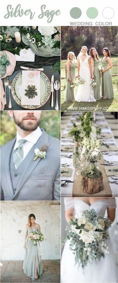 Wedding Color Trends: 30 Silver Sage Green Wedding Color Ideas s. - Wedding Color Trends: 30 Silver Sage Green Wedding Color Ideas silver sage green we - Olive Green Weddings, Olive Wedding, Sage Green Wedding, Green Wedding Themes, Country Wedding Colors, Weeding Themes, May Wedding Colors, Silver Wedding Decorations, Green Theme