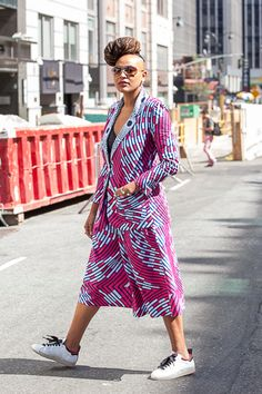 Al Malonga attends New York Fashion Week Spring 2016.