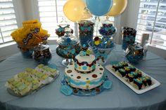 Customized Baby Boy Shower Dessert & Candy Buffet