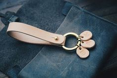 Personalized Leather Gift, Leather Keychain, Leather Initial keychain, Men's leather keychain