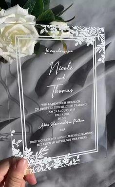 Amazing unique white printing acrylic wedding invitations, so impressive!