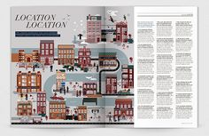 A series of illustrations created for the winter edition of Bridge Magazine; the publication for high-end estate agent Douglas & Gordon published by Matchbox Publishing.