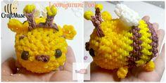 Rainbow Loom Honeybee Pooh Loomigurumi (Inspired by TSUM TSUM)