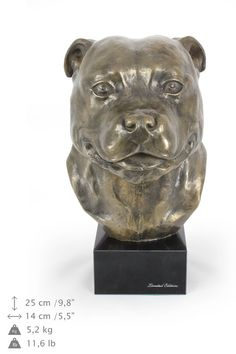 American Stofforshire Terrier dog statue on by ArtDogshopcenter