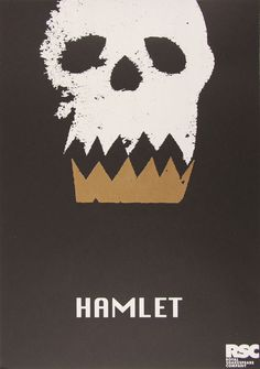 Look for similar shapes in imagery and let one shape serve two purposes. 'Hamlet' Shakespeare poster for RSC - Lauren Heath Graphic Design Posters, Graphic Design Typography, Graphic Art, Art Design, Cover Design, Play Poster, Zine, Pop Art, Saul Bass