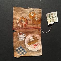 New York based painter Ruby Silvious seems to have found a cool new canvas for her miniature paintings.