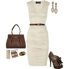 Love the ivory dress with the leopard shoes!! Classy & Cute...my fav!