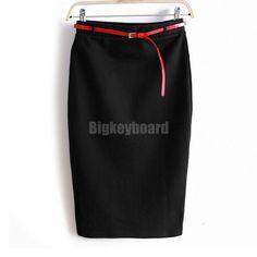 2014 Fashion Womens Desigual Ladies High Waist Midi Pencil Shorts Skirt Bodycon Slim Tube Stretch Saias Skirts
