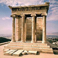 Templo Niké Aptera (Atenas, Grecia).  Nike Aptera Palace (Athens, Greece).