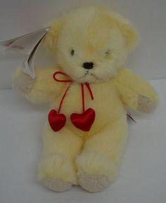 Vintage Dakin Teddy Bear Plush Red Hearts Yellow Stuffed Animal NEW 1994 #Dakin http://stores.ebay.com/Lost-Loves-Toy-Chest/_i.html?image2.x=31&image2.y=12&_nkw=dakin