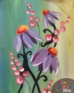 Spring Painting, Diy Painting, Painting & Drawing, Pebeo Porcelaine 150, Wine And Canvas, Diy Canvas Art, Canvas Paintings, Canvas Ideas, Paint And Sip