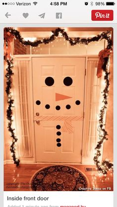 Fun way to decorate a door with your kids... #christmas #christmasdecor #christmaswithkids Majeski Law, LLC @ www.MajeskiLaw.com