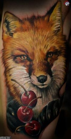 fox tattoo... without the cherry's