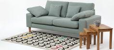 Oskar Two Seat Sofa Sky - Sofas - Sofas & Chairs - Furniture