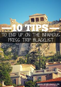 Must read for bloggers and journalists attending press trips, junkets, FAMs, etc!